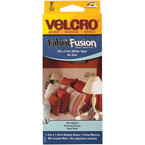 "Velcro Fabric Fusion Tape, 3/4"" x 5', White"
