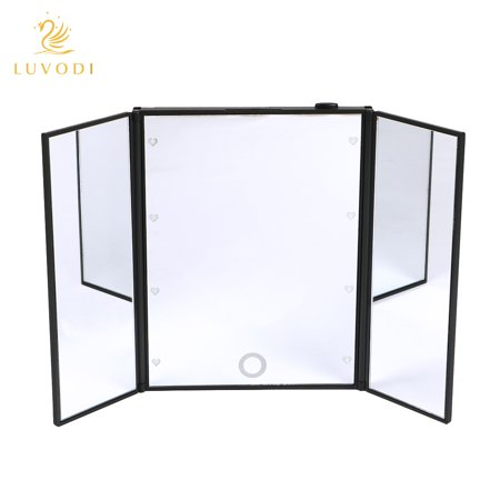 Luvodi makeup mirror with light foldable lighted makeup vanity luvodi makeup mirror with light foldable lighted makeup vanity mirror for travel mozeypictures Images