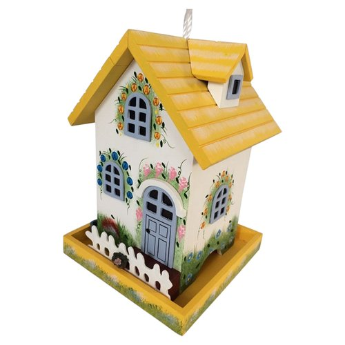 Home Bazaar Hatchling Series Flower Cottage Decorative Bird Feeder