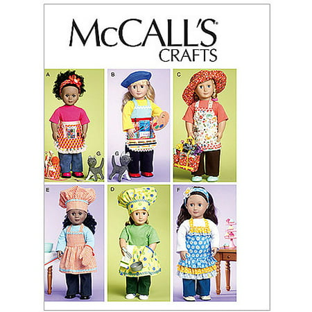McCall's Pattern 18 (46cm) Doll Clothes, Bag, Towel and Cat, 1 Size Only - Halloween Doll Patterns