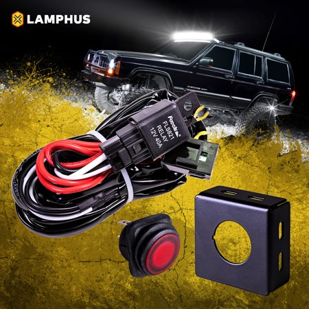 LAMPHUS 13' Off Road LED Light Bar Wiring Harness Kit ... on jeep seat belt harness, jeep carrier bearing, jeep engine harness, jeep key switch, jeep wiring diagram, jeep tach, jeep vacuum advance, jeep wire connectors, jeep intake gasket, jeep relay wiring, jeep condensor, jeep exhaust leak, jeep wiring connectors, jeep knock sensor, jeep sport emblem, jeep visor clip, jeep bracket, jeep gas sending unit, jeep exhaust gasket, jeep electrical harness,