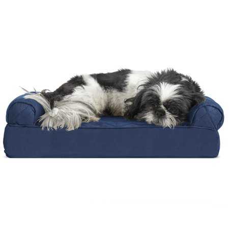 FurHaven Pet Dog Bed Cooling Gel Memory Foam Orthopedic Quilted Sofa S
