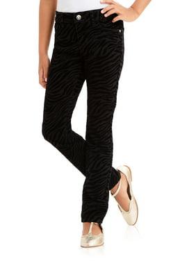 Zebra Flocked Knit Denim (Little Girls, Big Girls & Plus)
