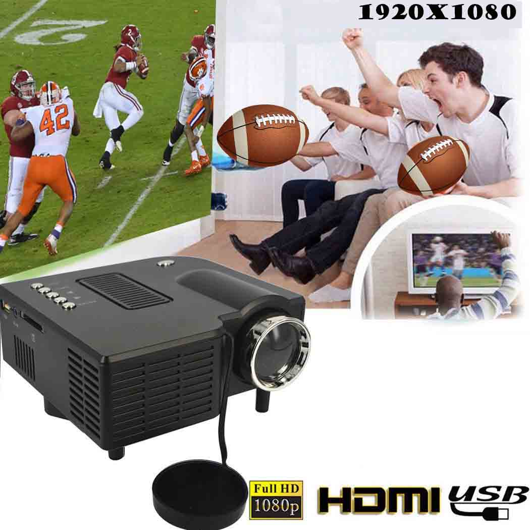 PRO Portable Mini Digitale LED 3D VGA HDMI TV Home Theater Movie Projector Cinema black