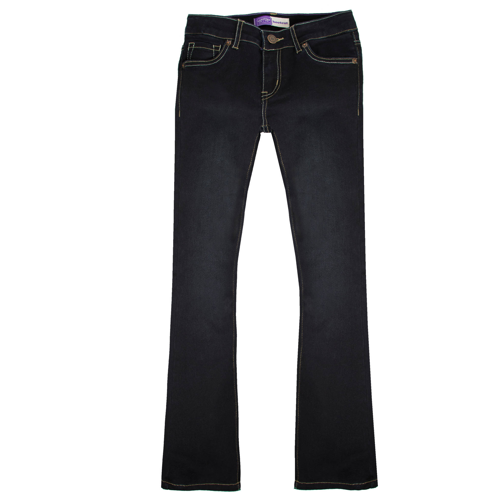 Levi's Signature Girls' 5 Pocket Bootcut Jeans - Walmart.com
