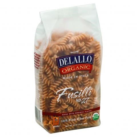Delallo Fusilli Whole Wheat Pasta #27 1 Pound