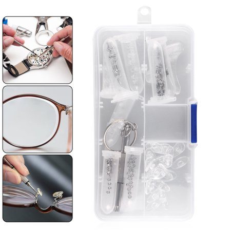 - TSV Screw Nut Nose Pad Optical Repair Tool Set Eye Glass Repair kit With Screws- Sunglass Reading Prescription - Professional