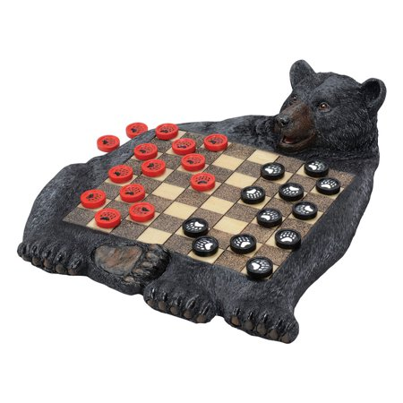 Checkers Box Set - Black Bear Checkerboard Set
