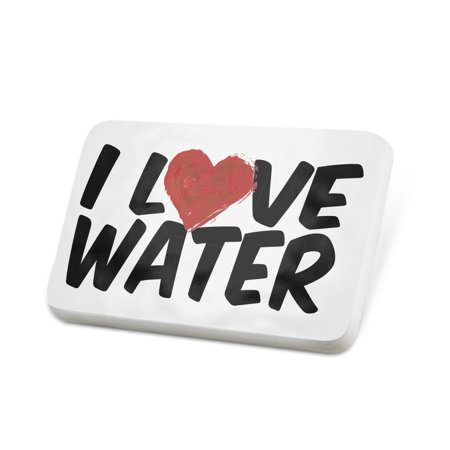 Porcelein Pin I Love Water Lapel Badge – NEONBLOND