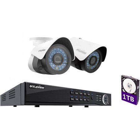 Laview Ip 1080p Hd 2 Cameras 4ch Nvr Home Video Security System W Night Vision Bullet Cameras