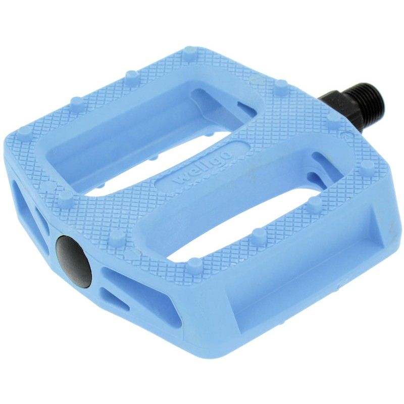 "Wellgo B109N Resin Bmx Pedals 9/16"" Solid Blue"