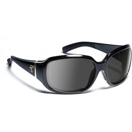 7 Eye Air Dam Sunglasses Mistral, Sharp View Clear Lens, Glossy Black Frame, S-M