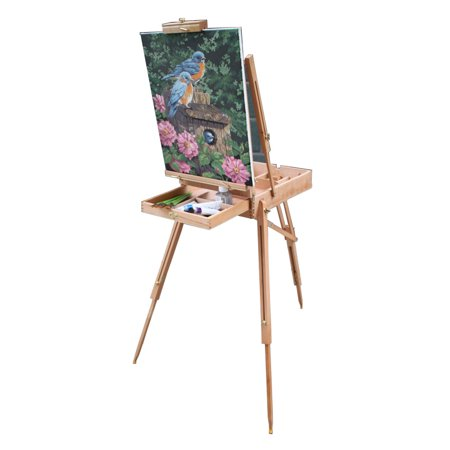 zimtown portable folding tripod drawing painting easel board wooden