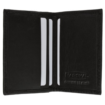 - Mens Small Leather Lamb Mini Bifold Credit Card ID Wallet 72 (C) Black