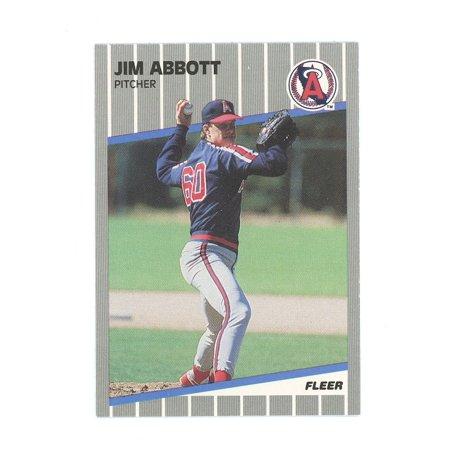 1989 Fleer Update #U11 Jim Abbott One Hand Angles Rookie Card