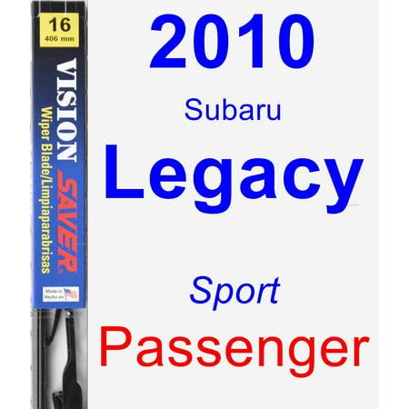 Legacy Wiper (2010 Subaru Legacy (Sport) Passenger Wiper Blade - Vision)