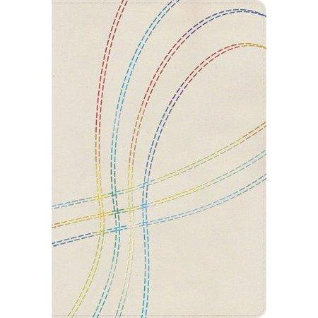 Biblia De Estudio Arco Iris   Rainbow Study Bible  Reina Valera 1960  Bordado Multicolor En Tela   Multicolor Stitch  Cloth Over Board