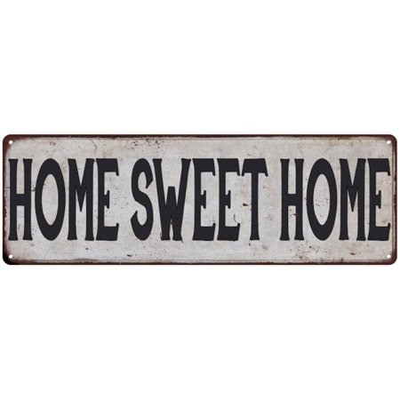 Retro Chick - HOME SWEET HOME Vintage Look Rustic 8x24 Metal Sign Chic Retro 108240035156