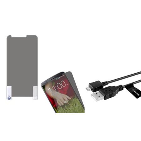 Insten Anti-grease Protector/Clear For LG D801 Optimus G2 D800 G2 VS980 G2 (with USB (Lg G2 Best Price)