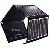 Solar Charger Chafon 22W Solar Panel Dual USB Ports Foldable Waterproof for iPhone Tablets Smartphones and