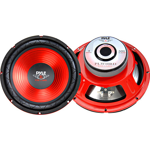 "Pyle 10"" Red Cone High Performance Subwoofer"