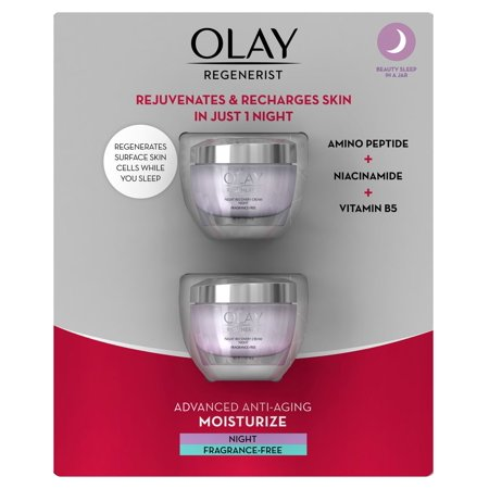 Product of Olay Regenerist Night Recovery Cream Face Moisturizer, Fragrance-Free, 2 pk./1.7 oz.