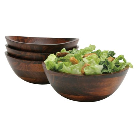 Lipper Cherry 7.5 in. Salad Bowls with Wavy Rim - Set of 4