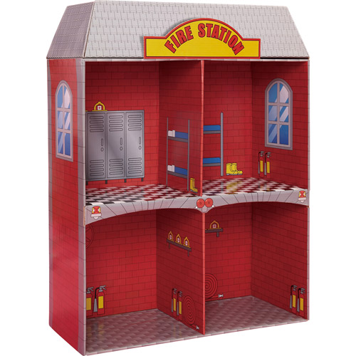 Badger Basket Adventure Cardboard Fire Station by Badger Basket