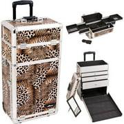 Sunrise I3163LPBR Leopard Trolley Makeup Case - I3163