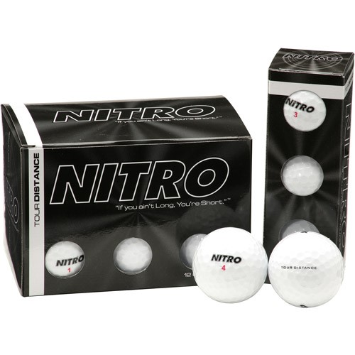 Nitro Tour Distance, Dozen White Golf Balls, 12 Count by Generic