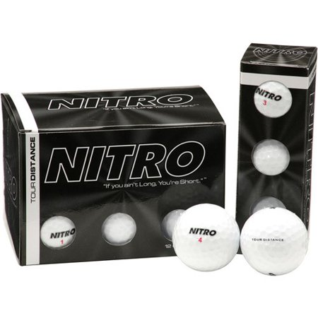 Nitro Golf Tour Distance Golf Balls, 12 (Nitro Tour Golf Ball)