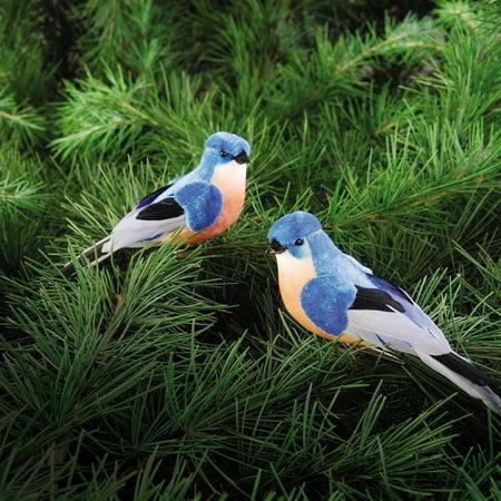 Set of 2 BLUEBIRD Clip Ornaments, 4.5