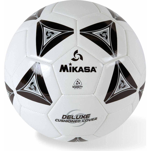 Mikasa Soft Soccer Ball, Size 5, Black/White