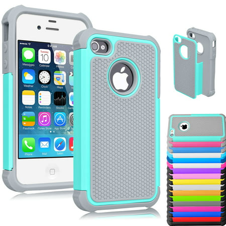 iPhone 5S Case, iPhone SE Case, iPhone 5 5S SE 5SE Case Shock Absorbing Hybrid Defender Rugged Cover Skin Shell Hard Plastic Outer & Rubber Silicone Inner Njjex [New (Best Case For Iphone 5se)