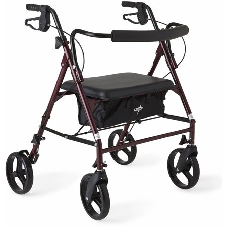 - Medline Extra Wide Heavy Duty Rollator Walker