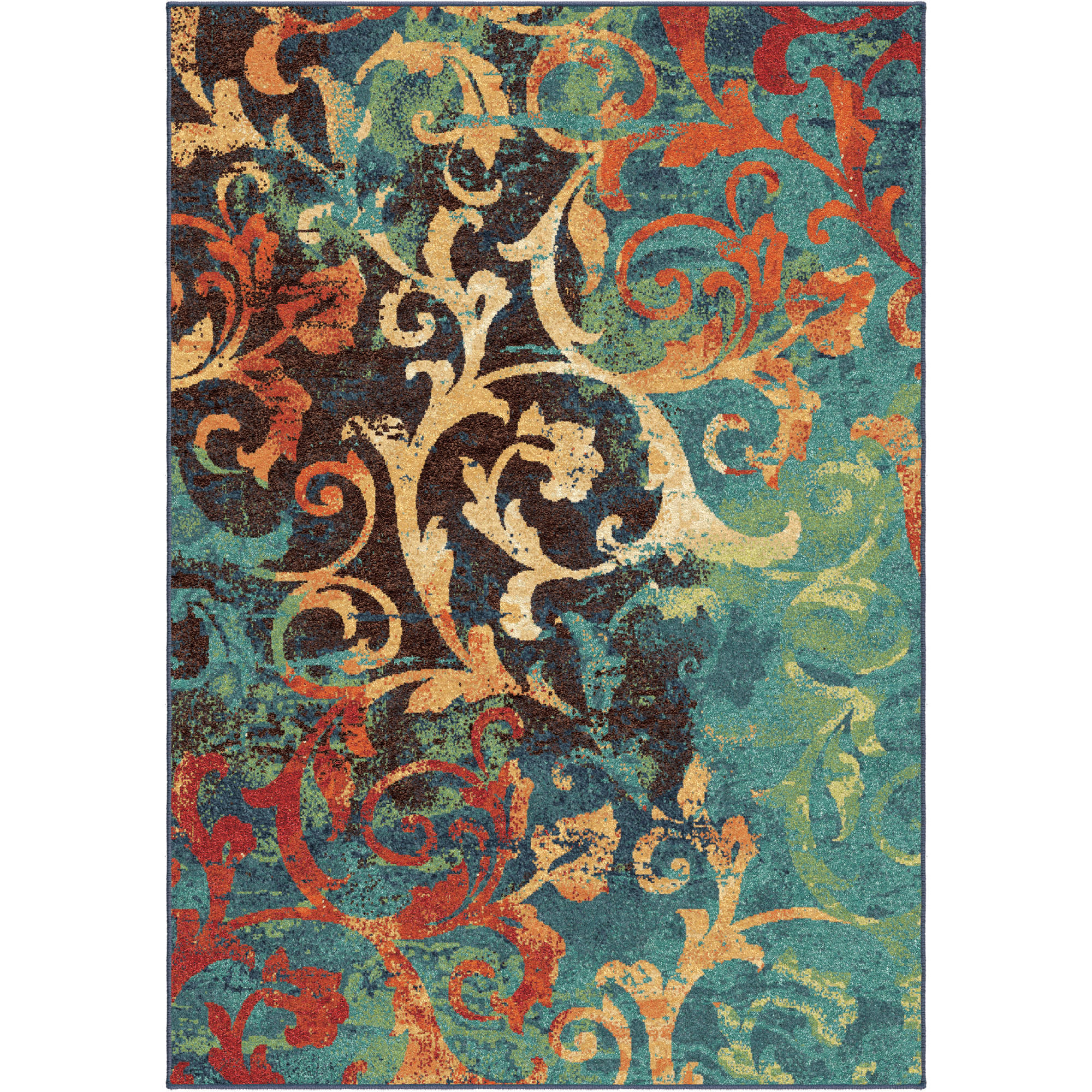 Orian Rugs Watercolor Scroll Multi Colored Area Rug Or Runner   Walmart.com