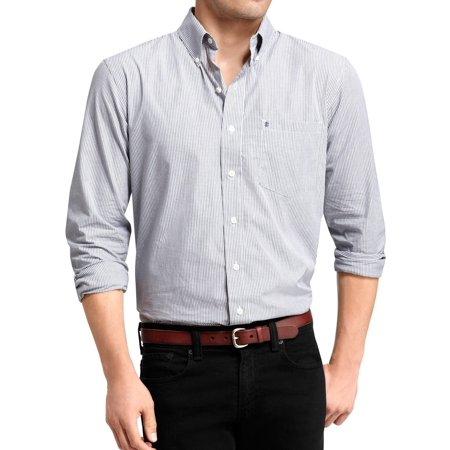 Izod Plaid Tie (IZOD NEW Navy Blue Mens Size XLT Big & Tall Plaid Button-Front Shirt )