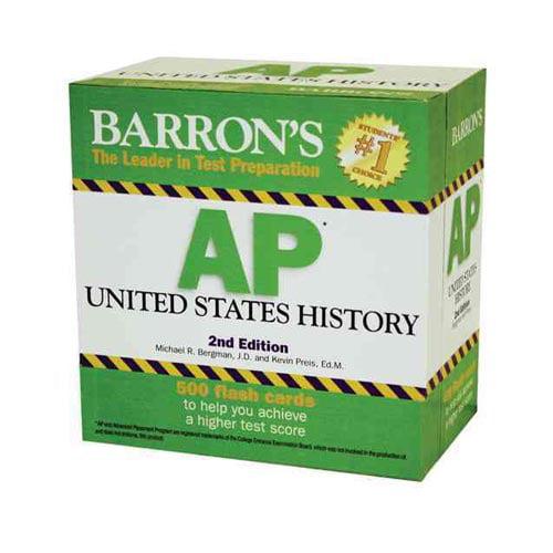 Barron's Ap United States History Flash Cards by Michael Bergman