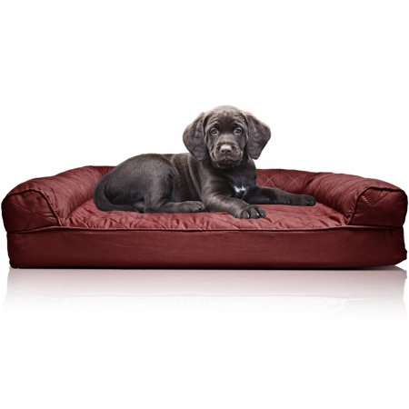 Fine Orthopedic Quilted Sofa Style Couch Pet Bed For Dogs Cats Wine Red Small Gmtry Best Dining Table And Chair Ideas Images Gmtryco