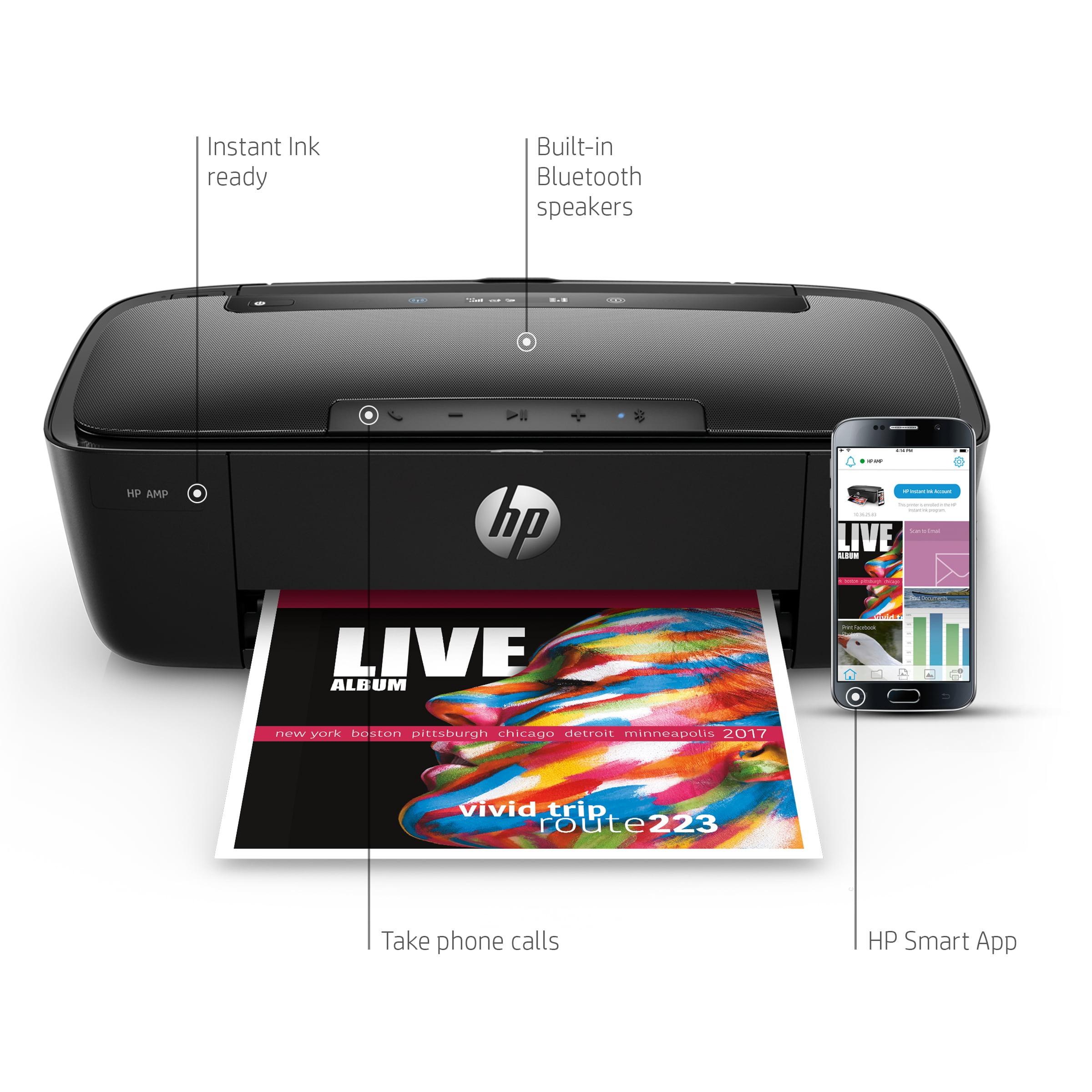 HP AMP 100 Printer with built-in Bluetooth speaker - Walmart.com Exclusive