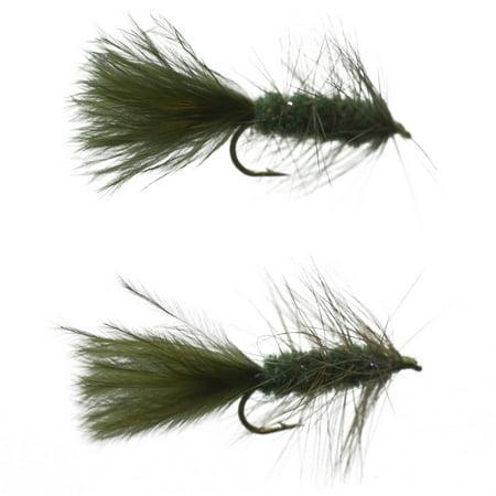 Cortland 2pk Flies, Wooly Bugger Pattern Olive