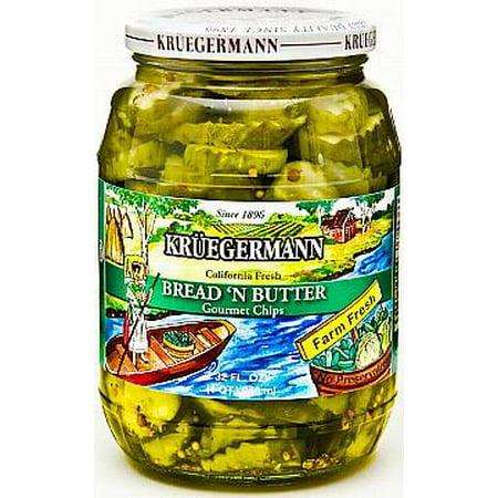 (Kruegermann Bread 'N Butter California Fresh Gourmet Pickle Chips (32 floz))