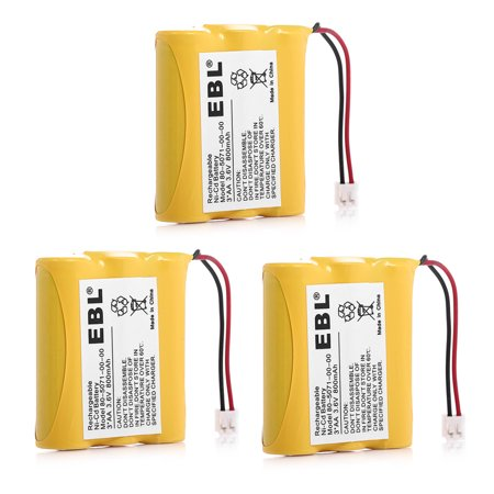 EBL 3-Pack 800mAh 3.6v Replacement Battery For Vtech Cordless Phones 80-5071-00-00 AT&T Lucent 3300 3301 6100