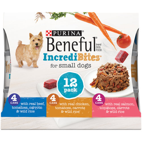 Purina Beneful IncrediBites Variety Pack Wet Dog Food, 3 Oz, Case of 12