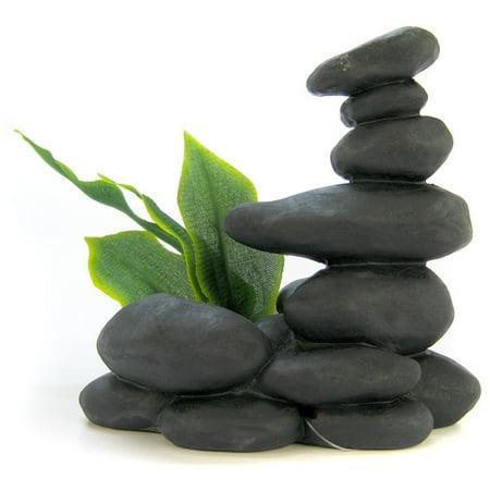 Zen Spa Stones with Plant - Black 5.5\