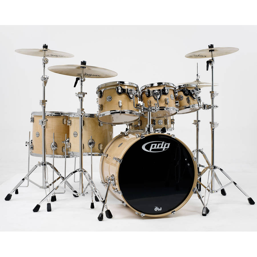 Pacific PDP Concept Maple 7-Piece Shell Pack w/ Chrome Hardware - Natural