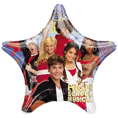 High School Musical 2 Foil Mylar Star Balloon (1ct) (High School Musical Halloween Party)