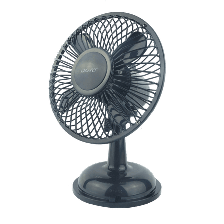 The Flying Wheels OCHO Retro Style (Metal Design, Automatic direction change) USB person fan (Black)](Vintage Style Fan)