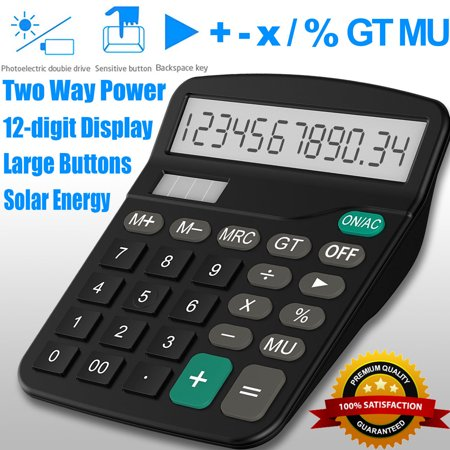Office Impressions Calculator - Office Calculator Standard Function Desktop 12 Digit Dual Power