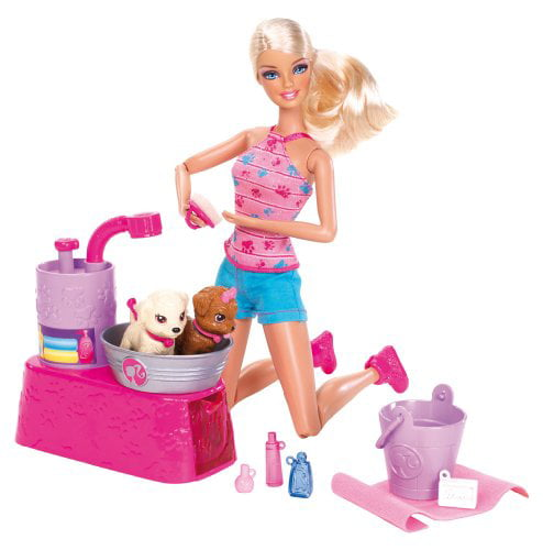 Barbie Suds And Hugs Doll & Pups Play Set by Mattel, Inc.